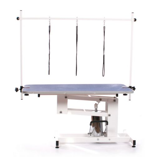 Pedigroom Elite Hydraulic Dog Grooming Table Blue
