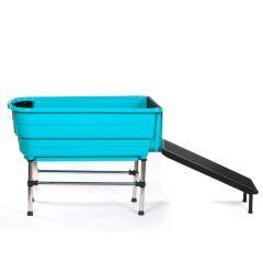 Plastic Bath Tub With Ramp - Green