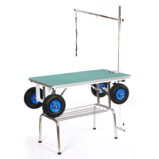 Pedigroom Large Grooming Table With Wheels Green
