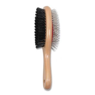 Ancol Ergo Wood Handle Double Sided Brush