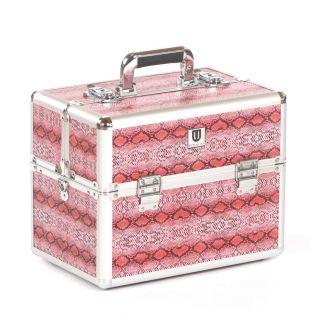 Grooming Tack Box Pink Snakeskin