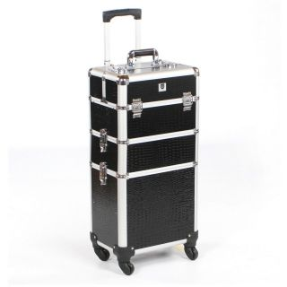Mobile Grooming Trolley Black Crocodile