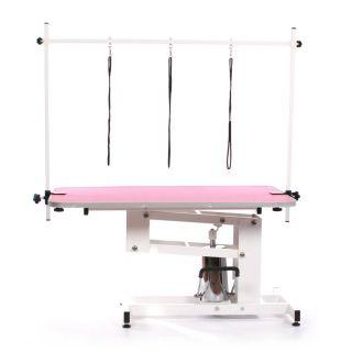 Pedigroom Elite Hydraulic Dog Grooming Table Pink