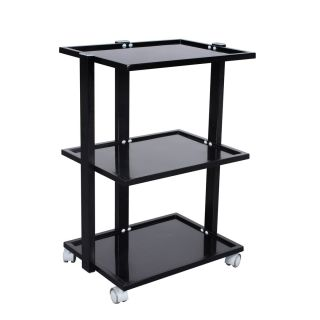 Frosted Grooming Salon Trolley Black