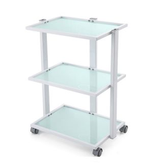 Frosted Grooming Salon Trolley White