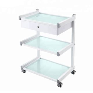 Star Grooming Salon Trolley White with 1 Drawer