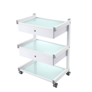Star Grooming Salon Trolley White with 2 Drawers