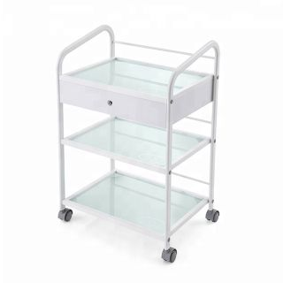 Classic Grooming Salon Trolley White 1 Drawer