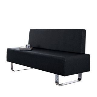 Grooming Salon Reception Couch Black