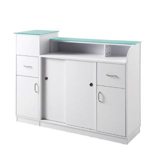Pro Grooming Salon Reception Desk White