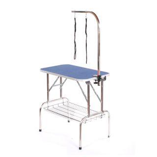 Pedigroom Medium Staineless Steel Portable Dog Grooming Table Blue