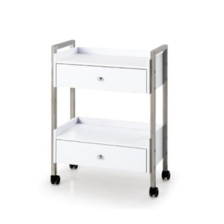 Chic Grooming Salon Trolley White